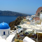 Pocztówkowa Grecja naSantorini